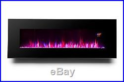 Wall Mount Electric Fireplace Heater Insert 50 Infrared 5100 BTU Remote Control