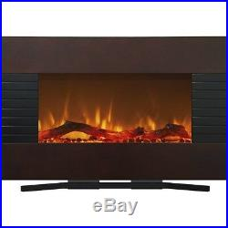 Wall Mount Electric Fireplace Heater Insert Glass Flame Living Room Home Stove