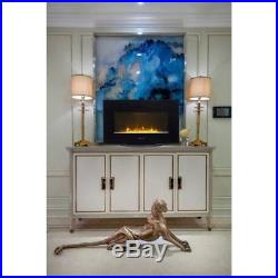 Wall Mount Electrical Fireplace Stand Insert Embedded With Realistic Flame Decor