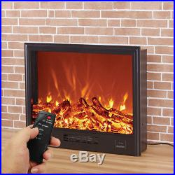 Wall Mounted Electric LED Fireplace Heater Insert Design With Remote Control