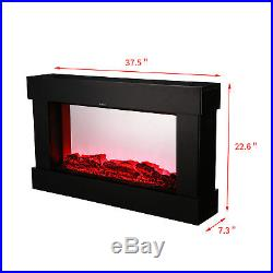 Wall Mounted Insert Recessed 1500W Electric Fireplace Heater 3D Flame