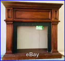 Wooden Wall Mantle with Electric Fireplace Insert