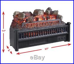 XL Electric Fireplace Insert Logs 23 In Heater Energy Efficient Led Ventless Fan