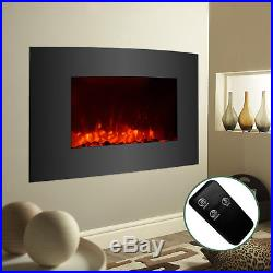 XL Large 35x22 Electric Fireplace Insert Wall Mount Heater with Remote Control