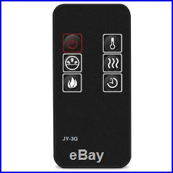 XL Large 43 Electric Fireplace Insert Wall Mount Heater with Remote Control