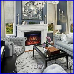 Xbeauty 33 Electric Fireplace Insert Recessed in Wall Freestanding Heate. New