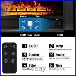 YODOLLA 28.5 Electric Fireplace Insert with 3 Color Flames, Fireplace Heater wi