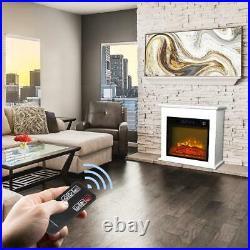 ZOKOP 1400W Electric Fireplace Heater Freestanding Insert Flame Heater 18 Home
