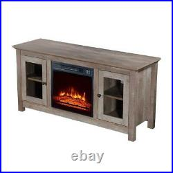 Zokop 18 Insert Electric Fireplace 51 TV Cabinet Stand Media Storage Shelves
