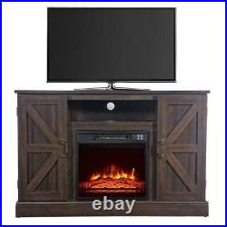 Zokop Wood Cabinet Up to 47 TV Stand Stove Electric 18 Fireplace Insert Heater